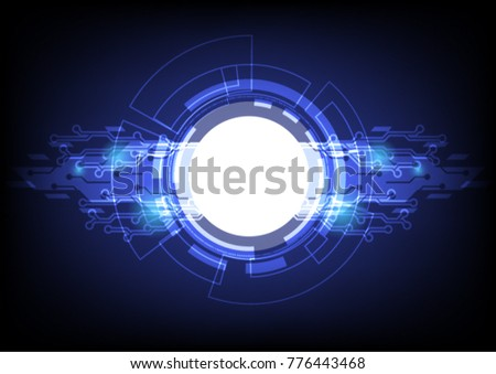 Vector illustration - Vector abstract technology concept background,Vector illustration #776443468