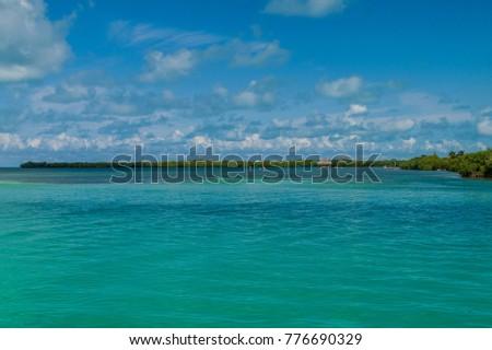 View of a coast of Caye Caulker island, Belize #776690329