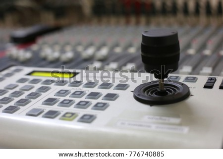 camera controller and the audio mixer for sound and visual engineering #776740885