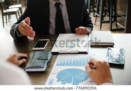 Business People Meeting Design Ideas professional investor working new start up project. Concept. business planning in office. #776890396