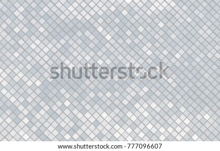 Mosaic silver tiles texture wall with light reflection, abstract seamless white and gray silver tiles background and wallpaper #777096607