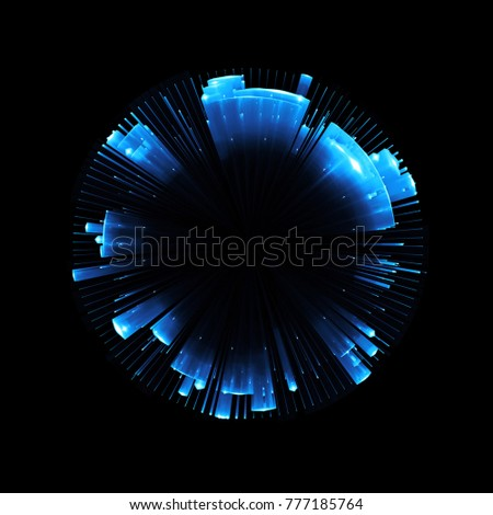 Abstract background. luminous swirling. Elegant glowing circle. Big data cloud. Light ring.Sparking particle. Space tunnel. Colorful ellipse. Glint sphere. Bright border. Magic portal. Energy ball.  #777185764