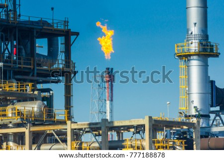 Oil and gas refinery industrial, Power plant. #777188878