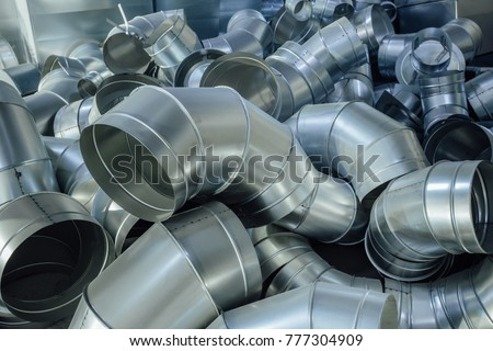 Steel pipes, parts for construction of ducts of industrial air condition system #777304909