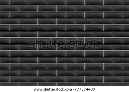 black wall tile #777574489
