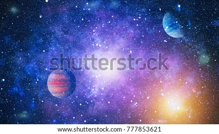 Galaxy - Elements of this Image Furnished by NASA #777853621