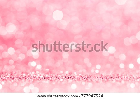 Pink gold, pink rose bokeh,circle abstract light background,Pink Gold shining lights, sparkling glittering Valentines day,women day,event lights romantic backdrop.Blurred abstract holiday background.  #777947524