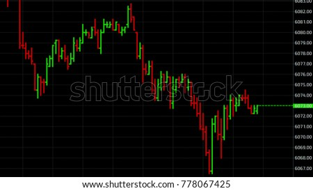 Reverse trend point stock market quotes. Business graph. Candlestick chart on color background. #778067425