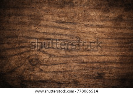 Old grunge dark textured wooden background,The surface of the old brown wood texture,top view brown wood panelitng #778086514