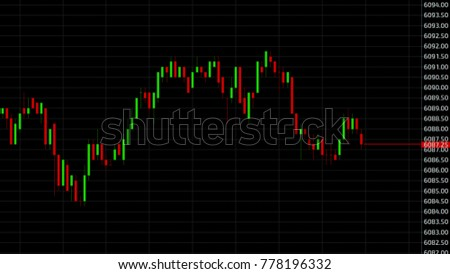 Candle stick graph chart of stock market investment trading business concept. #778196332