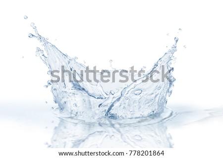 Water splash,water splash isolated on white background,blue water splash,water  #778201864