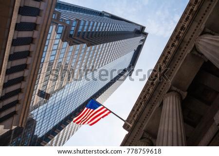USA May 12 2016. Skyscrapers, Wall Street, Manhattan, NYC, USA #778759618