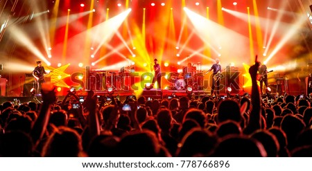 BENICASSIM, SPAIN - JUL 16: Crowd in a concert at FIB Festival on July 16, 2015 in Benicassim, Spain. #778766896