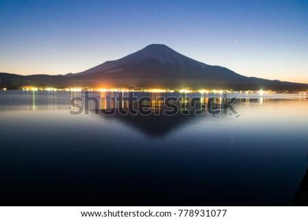 Mt. Fuji at dusk #778931077