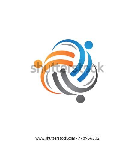 Social relationship community logo #778956502