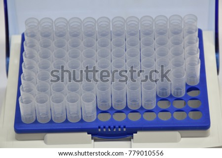 Tip for pipette in Laboratory used by researcher  #779010556