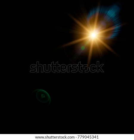 Lens effect for a photo on a black background. #779045341