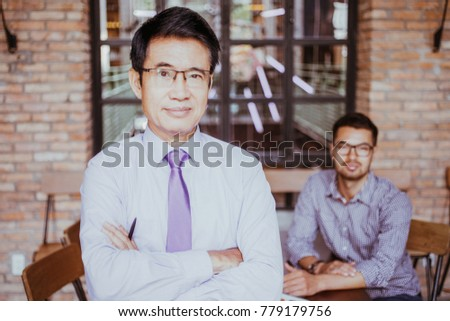 Portrait of Two Content Entrepreneurs in Cafe #779179756