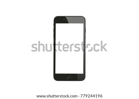 new phone front isolated on white background