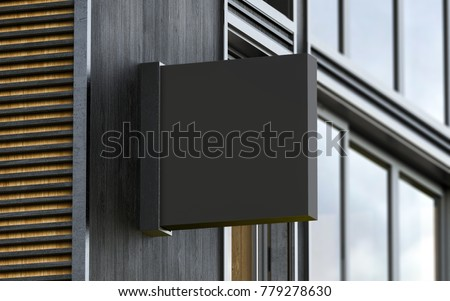 Cafe signboard mockup