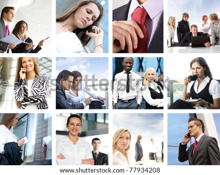 Business collage made of many business pictures #77934208