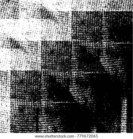 Grunge Black And White Urban Vector Texture Template. Dark Messy Dust Overlay Distress Background. Easy To Create Abstract Dotted, Scratched, Vintage Effect With Noise And Grain. Aging Design Element #779672065