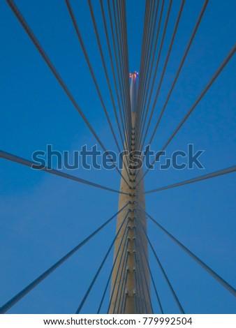 Bridge over Ada in Belgrade, Serbia #779992504