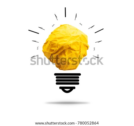 paper light bulb on white background for creative idea new innovation