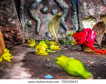 closeup of Shiva temple in south India #780200641