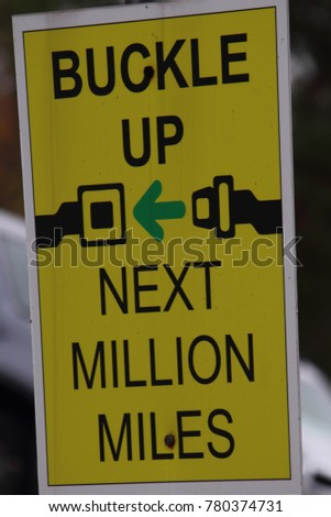 BUCKLE UP SIGN #780374731
