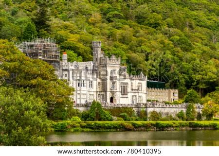 Kylemore Abbey over the lake, Ireland #780410395
