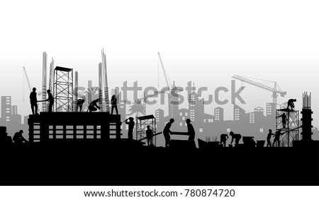 Construction vector background,Construction info graphics, Book Cover Design. Royalty-Free Stock Photo #780874720