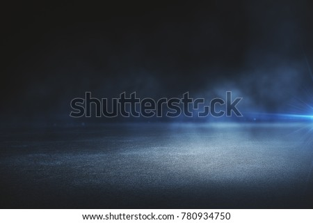 Creative blurry outdoor asphalt background with mist  #780934750