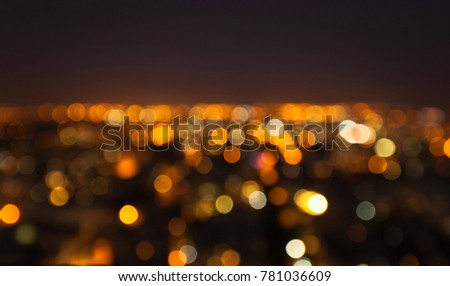 Night city theme abstract blur background with bokeh effect. #781036609