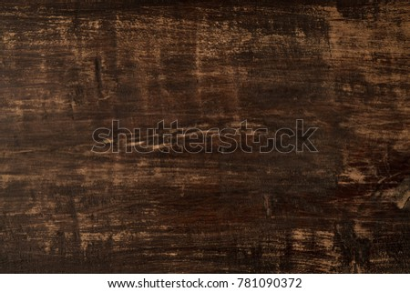 Wooden texture natural background. Old vintage table surface for copy text or design. #781090372