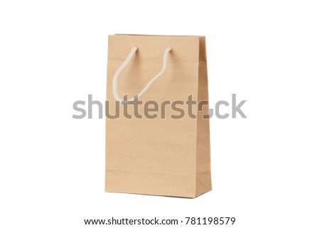 Brown package from paper, isolated on the white #781198579