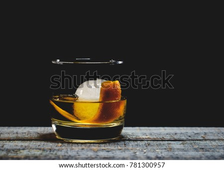 Old fashioned cocktail Royalty-Free Stock Photo #781300957