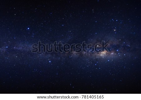 Milky way galaxy with stars and space dust in the universe #781405165