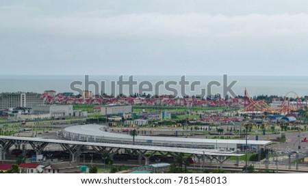 Adlersky District panorama, Sochi, Krasnodar Krai, top view #781548013