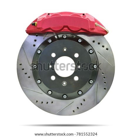 Disc brake isolated on white background. This has clipping path. Royalty-Free Stock Photo #781552324