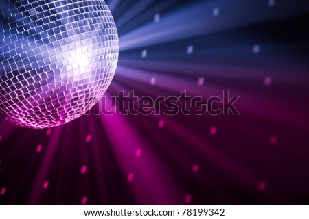 party lights disco ball Royalty-Free Stock Photo #78199342