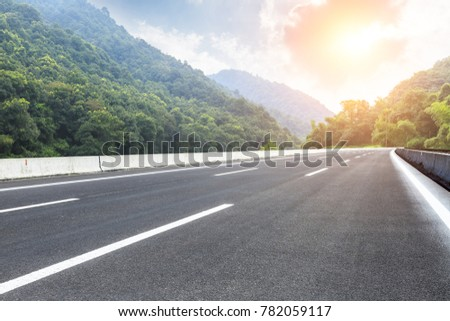 country road and mountains natural landscape in the summer #782059117