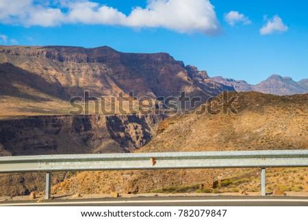 On the road through the ravine of Tirajana #782079847