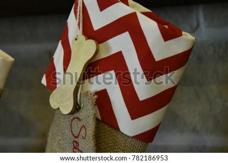 Christmas Stocking Hung for Family Pet #782186953