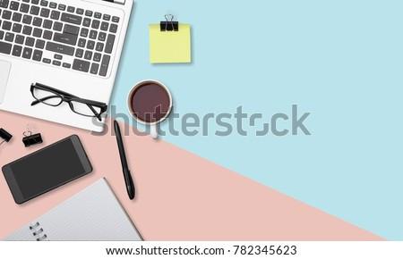 Minimal home office desk