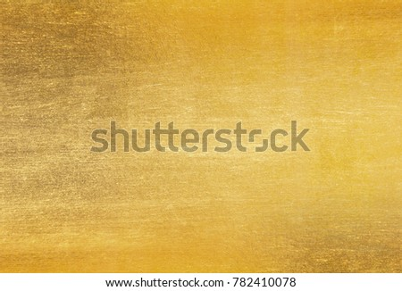 Shiny yellow leaf gold foil texture background #782410078