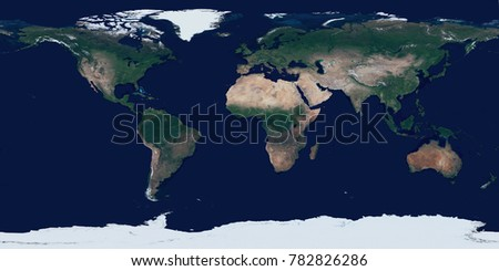 High resolution satellite image of Earth in equirectangular projection. Planet Earth surface topographic map. Earth surface high detailed realistic texture. Elements of this image furnished by NASA.