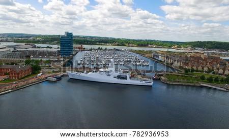 Dutch Naval War Ship From Above #782936953