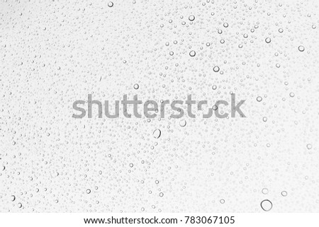 Water drops , Rain drops on glass background Royalty-Free Stock Photo #783067105