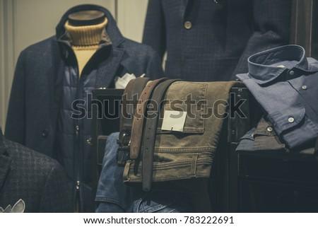Men clothing in a store in Milan #783222691